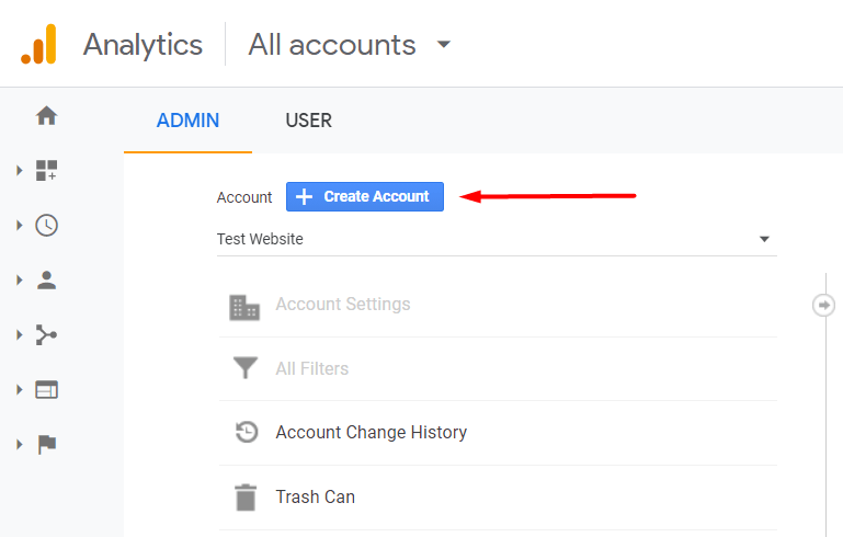 Conversion tracking - tombol create account Google Analytics