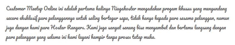 Tipografi sulit dibaca