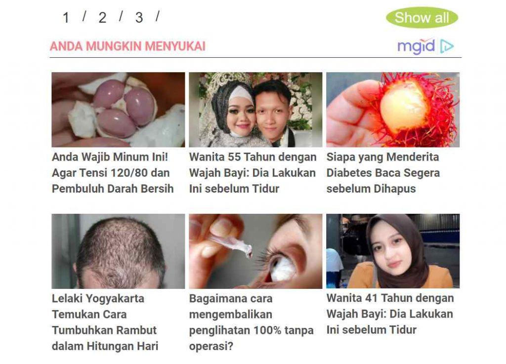 contoh native ads pada blog