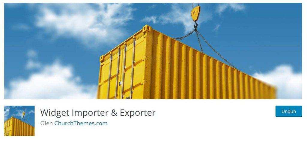 plugin untuk export dan import widget WordPress