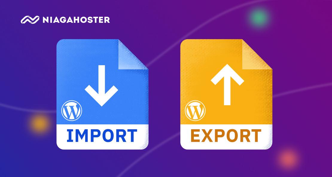 cara import dan export wordpress termudah