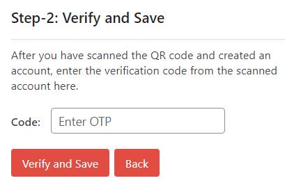masukkan kode OTP saat menggunakan Two-Factor Authentication