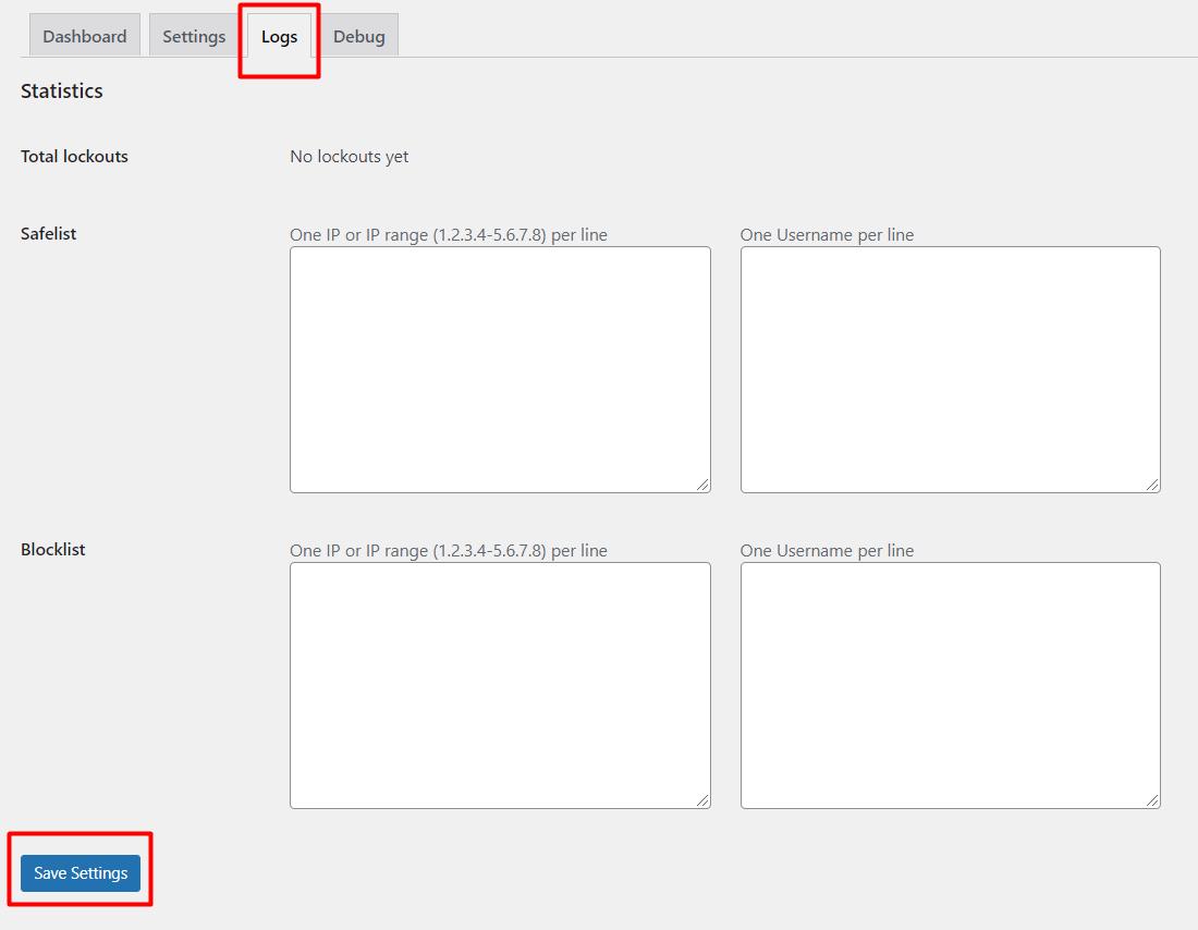 langkah ketiga untuk batasi percobaan login wordpress