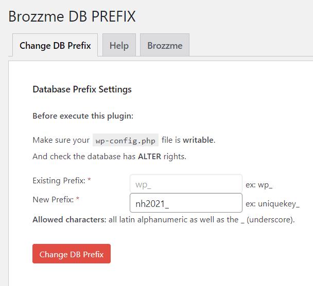 langkah ketiga cara ganti database prefix
