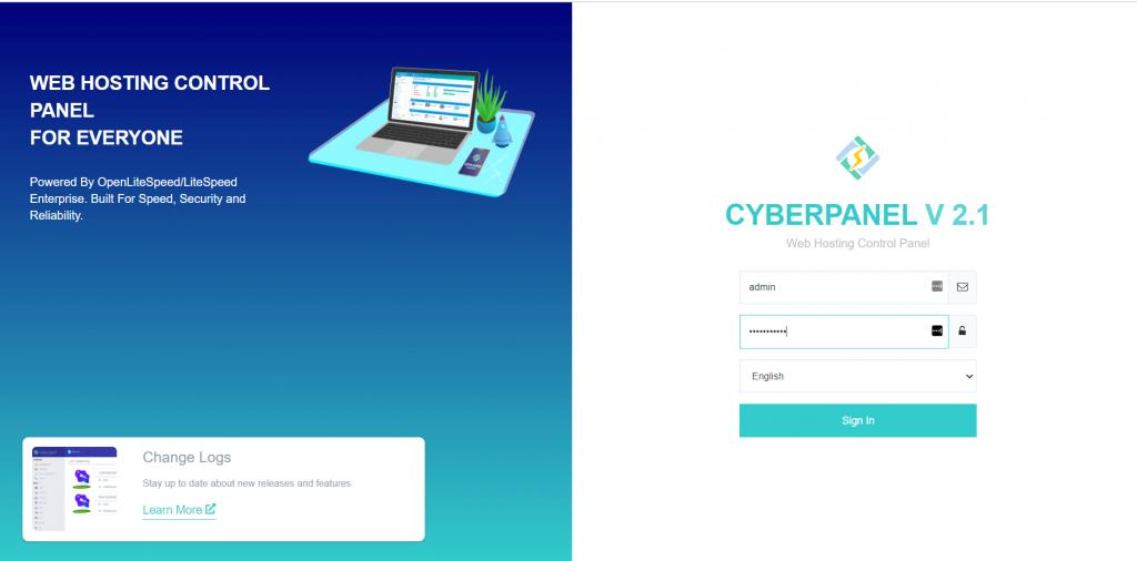 Login CyberPanel