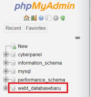 Mengakses phpmyadmin di CyberPanel