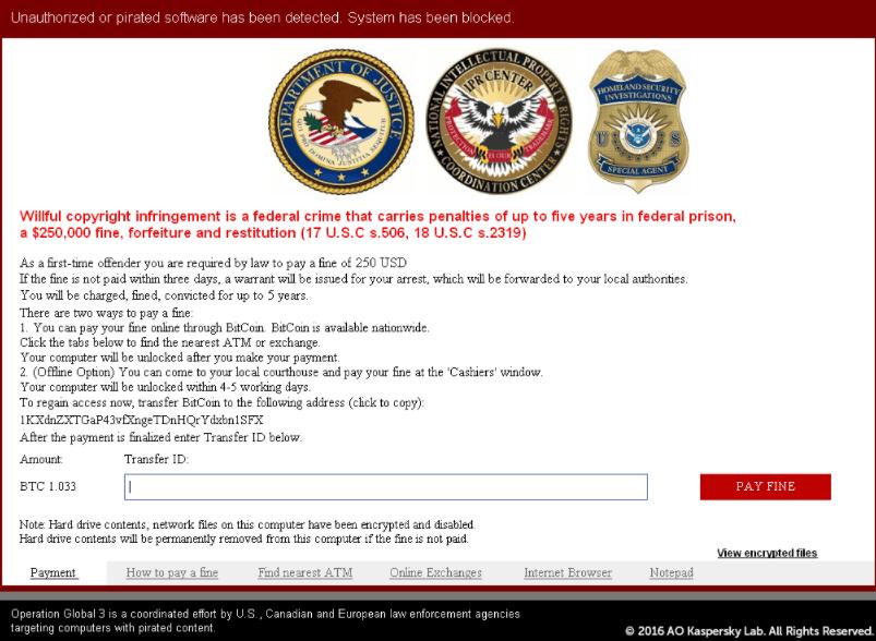 Tipe Ransomware Screen Lockers