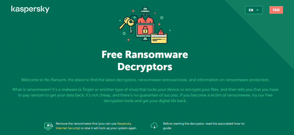 Software Decryptor Ransomware dari Kaspersky