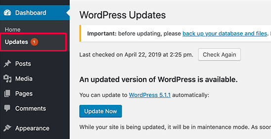 Update Website Secara Rutin