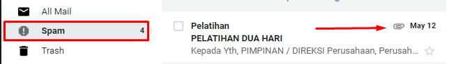 Menghindari Klik Email Spam