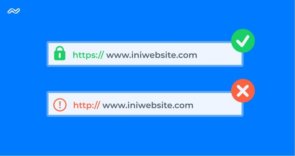 ilustrasi keamanan website dengan sertifikat SSL