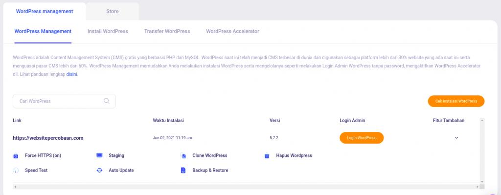 WordPress Management Niagahoster