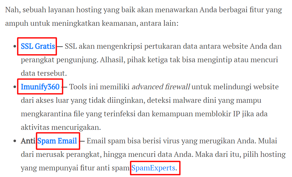 contoh tulisan seo friendly adalah yang menyisipkan internal link