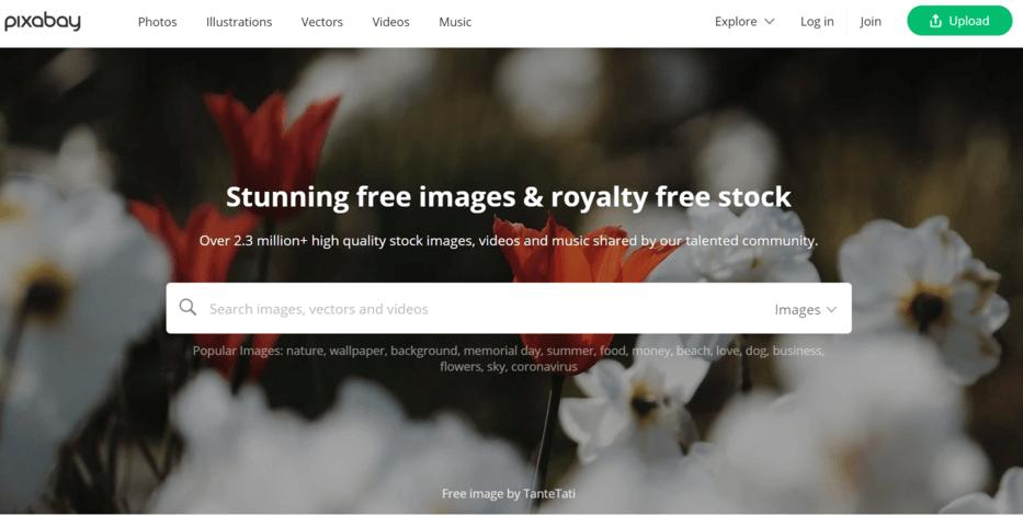 pixabay adalah salah satu website gambar gratis