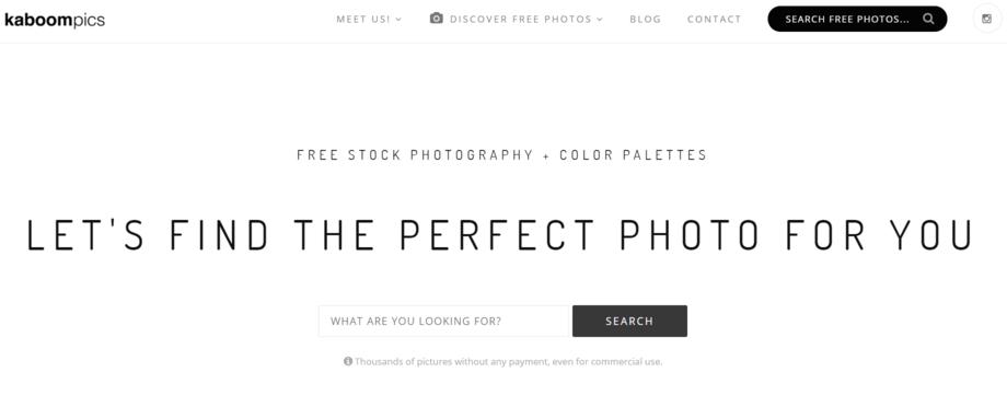 Kaboompics merupakan salah satu website penyedia gambar gratis