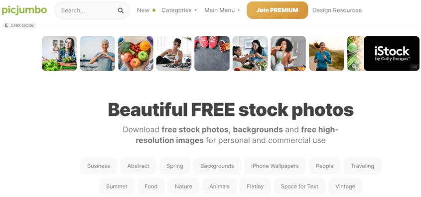 Picjumbo adalah salah satu website download gambar gratis