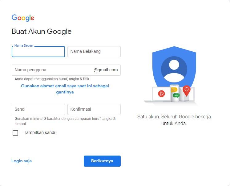 Akses Halaman Daftar Gmail