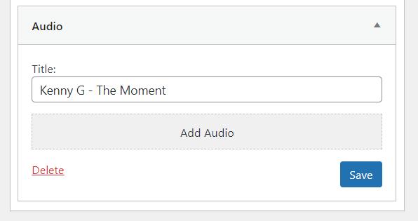 widget wordpress audio