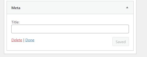 widget wordpress meta