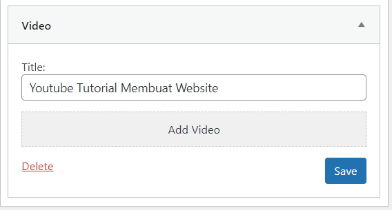 widget wordpress video