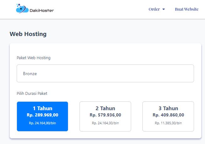 Detail Harga dan Nama Halaman Produk/Landing Page di Website DakiHoster Otomatis Berubah