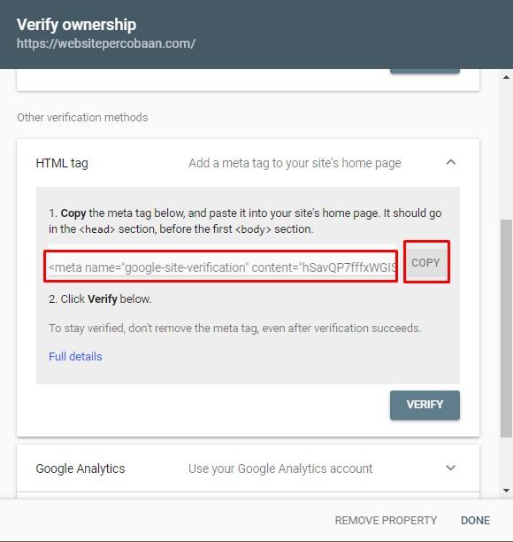 Verifikasi Menggunakan HTML Tag