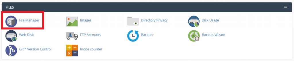 Mengakses Menu File Manager