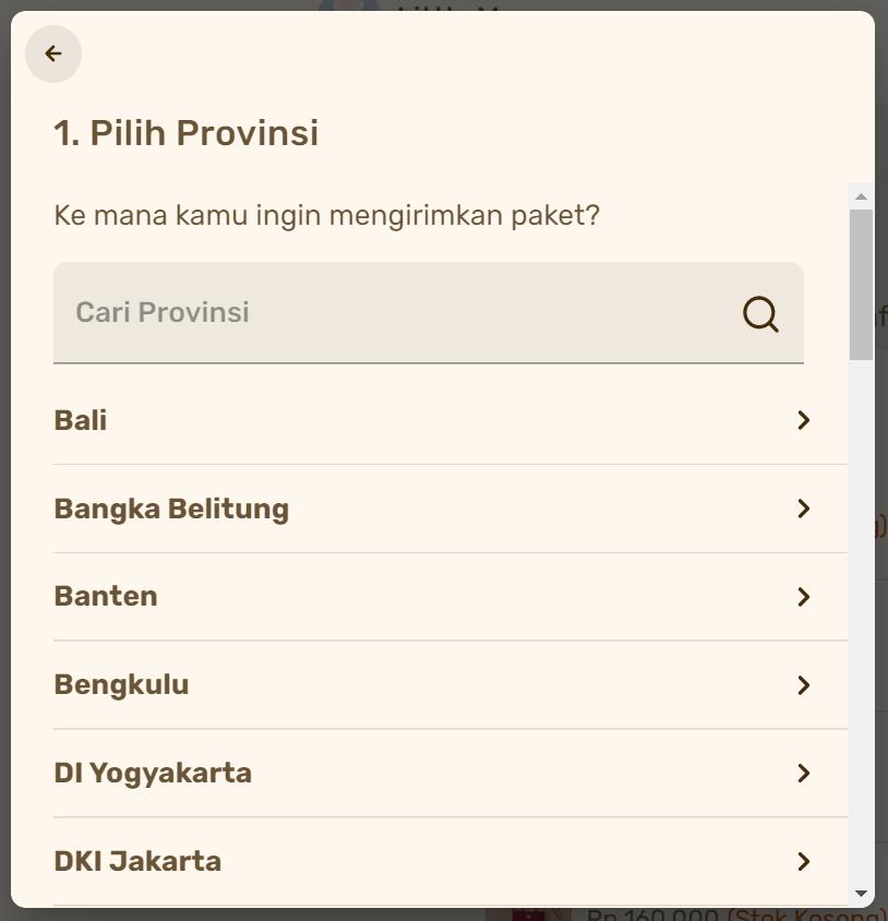 contoh penggunaan plugin ongkos kirim di halaman produk