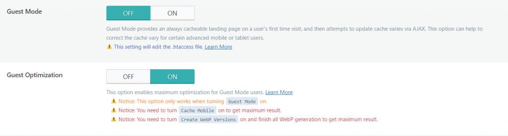 Fitur Guest Mode di WordPress LiteSpeed Cache Plugin