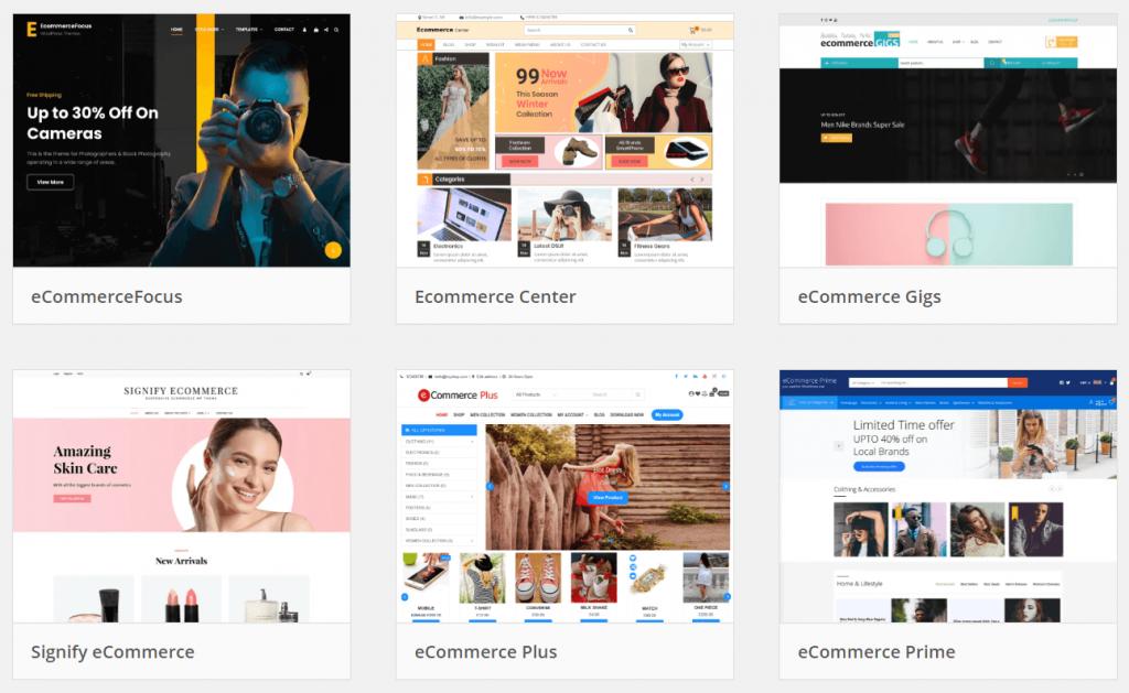 memnangun toko online dengan pilihan tema di direktori tema wordpress