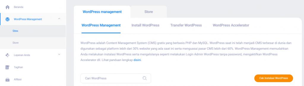 dashboard wordpress management baru setelah membangun toko online