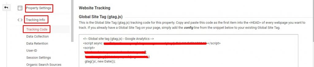 Copy Paste Tracking Code Google analytics