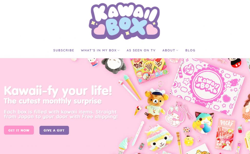 halaman utama kawaii box