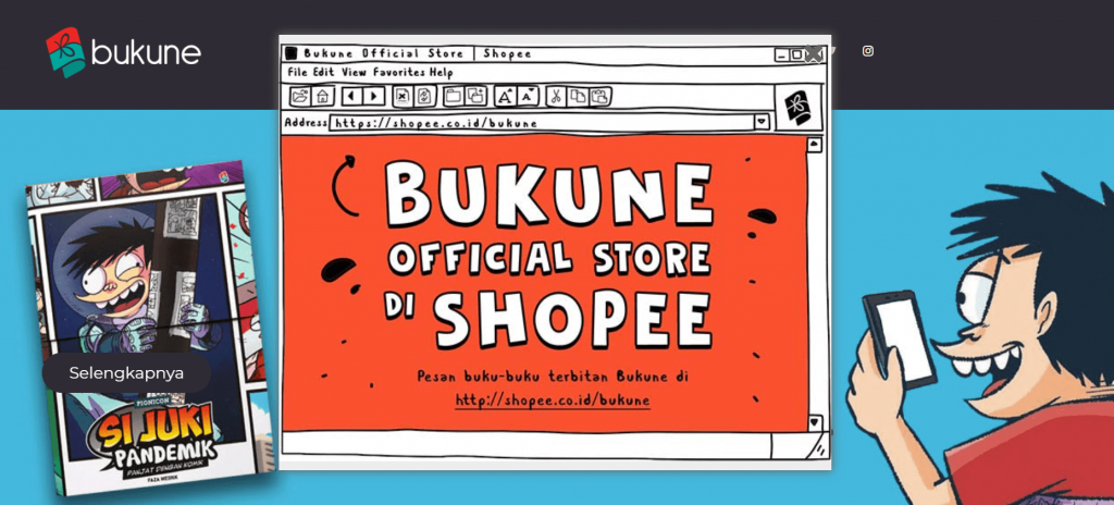 contoh membangun toko online dengan pop up website