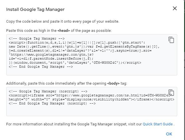 Verifikasi Menggunakan Google Tag manager