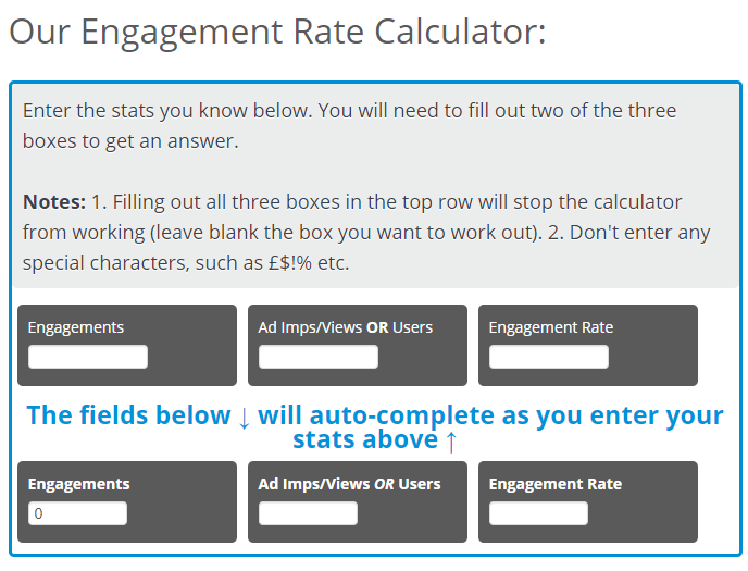 Engagement Rate Calculator