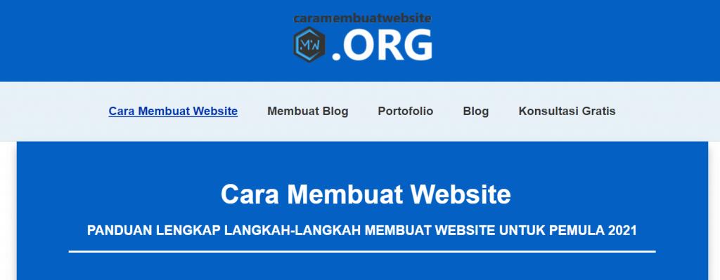 halaman utama cara membuat website