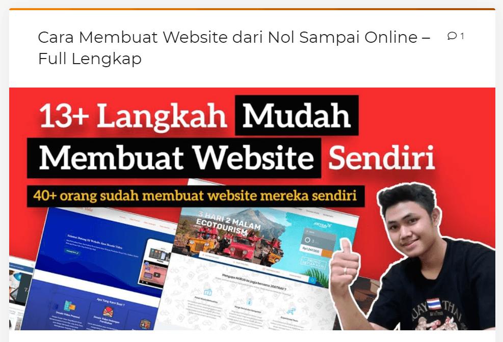 contoh artikel panduan cara membuat website