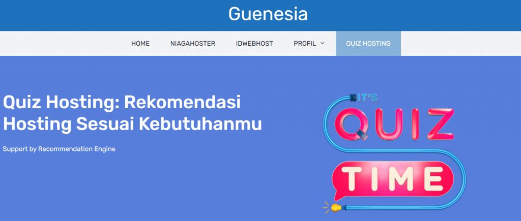 contoh quiz hosting guenesia