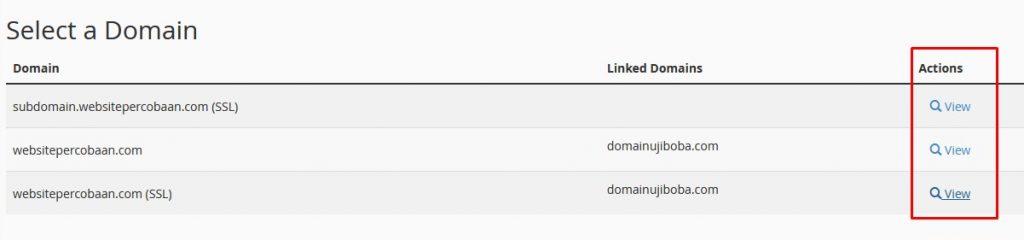 Pilih Domain yang ingin Dicek