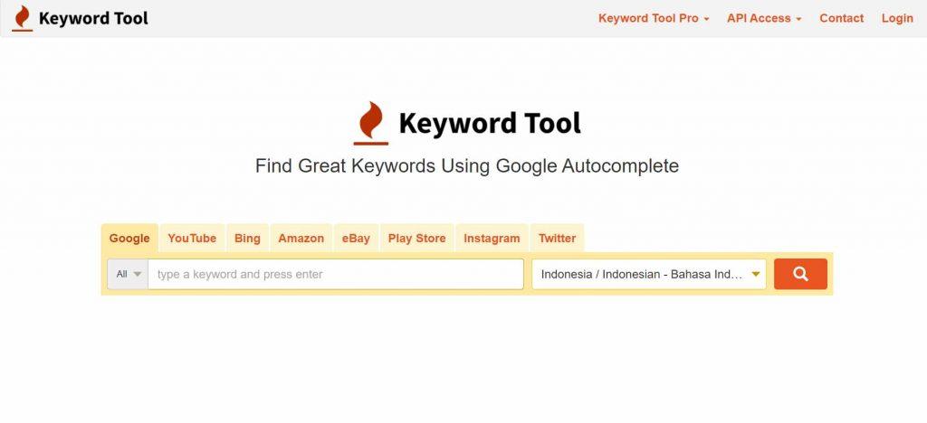 tool riset keyword keywordtool.io