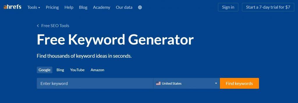 ahrefs keyword tool