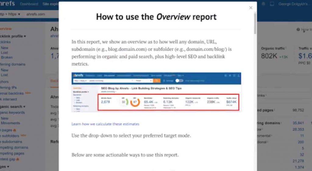 fitur how to use ahrefs atau panduan memnggunakan seo tool