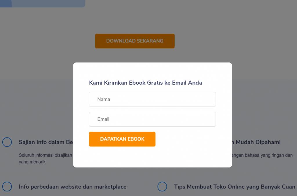 form registrasi email untuk ebook Niagahoster