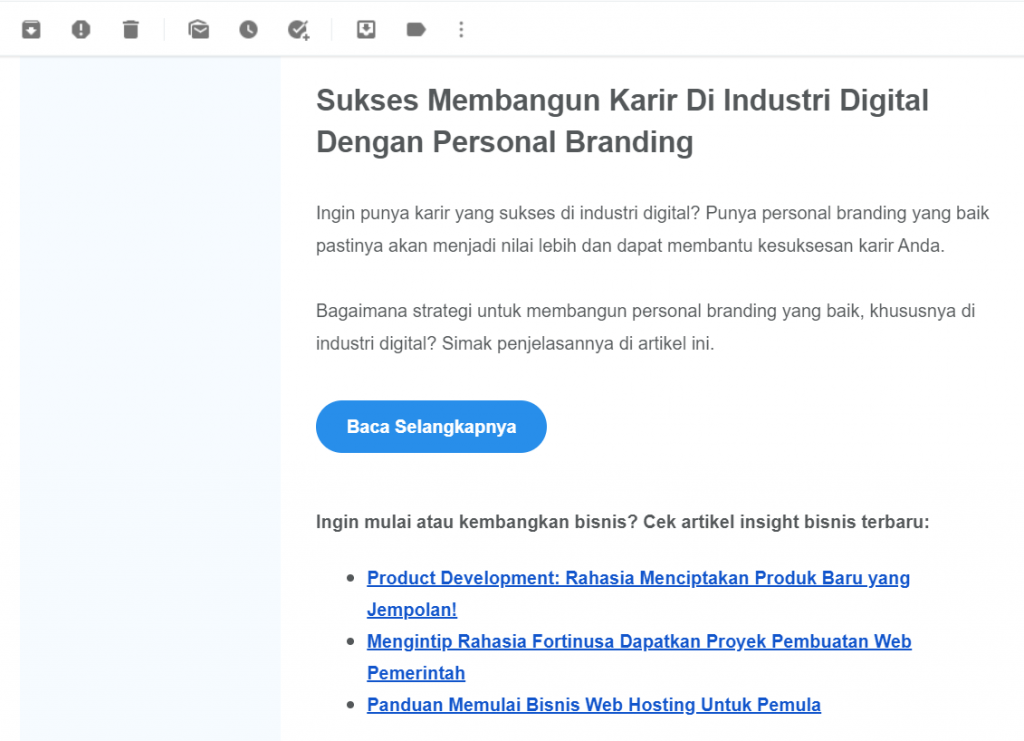 newsletter email dari Niagahoster