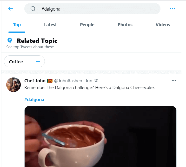 hashtag pencarian twitter