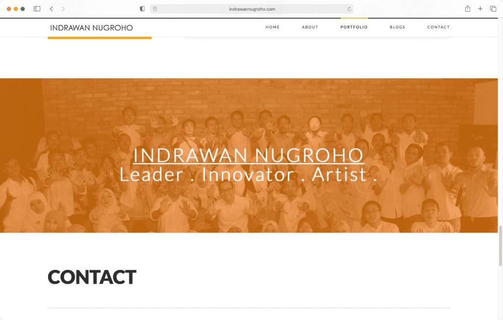 Halaman website jasa konsultasi bisnis