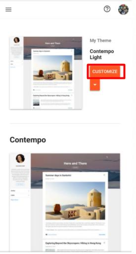 customize tema di blogspot