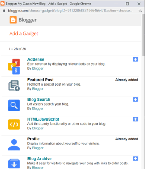 widget di blogspot
