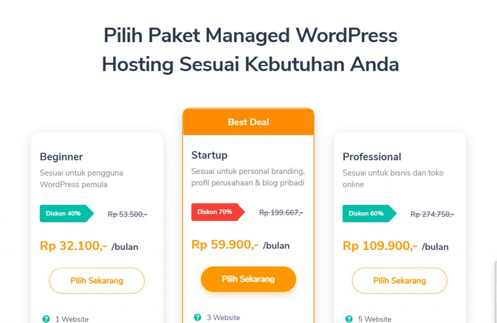 paket managed wordpress hosting Niagahoster